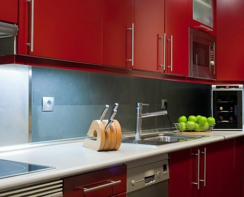 Dare To Be Bold - Red Kitchen Cabinets