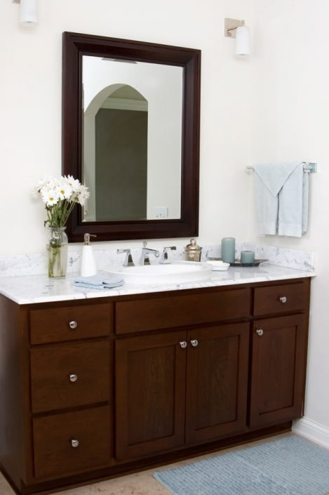 Bathroom Cabinets & Marble Countertops
