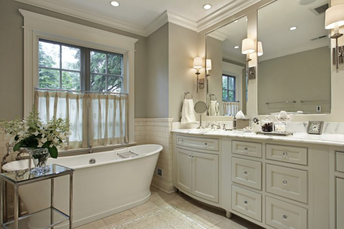White Bathroom Cabinets in Madison & Waukesha, WI