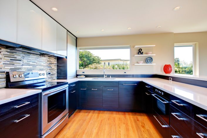 Black Kitchen Cabinets in Madison, WI