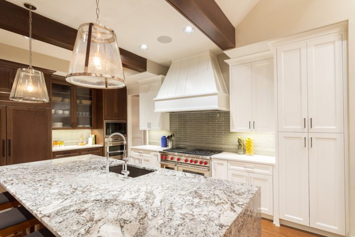Countertops & Multi-Colored Cabinets in Wisconsin