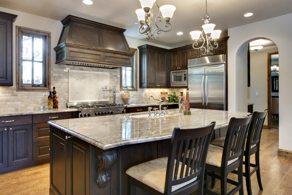 kitchen cabinets and countertops. Dark Cabinets  Granite Countertops in Wisconsin Inspiration Gallery Flooring Waukesha WI