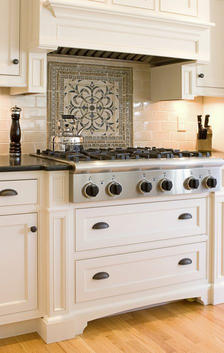 Backsplash & White Cabinets in Madison, WI