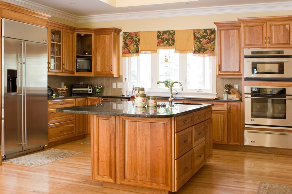 Kitchen with Wood Cabinets in Madison, WI