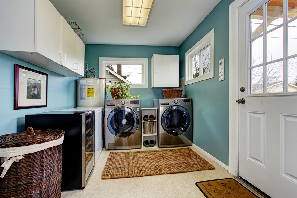 Blue Laundry Room In Waukesha U0026 Madison, WI
