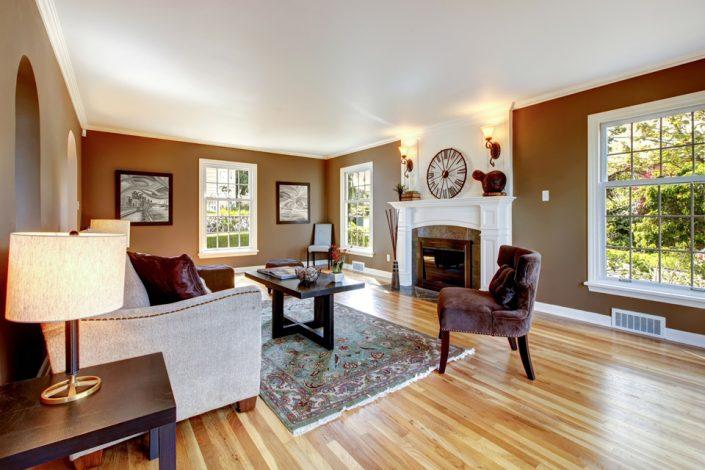 Living Room Wood Flooring in Wisconsin