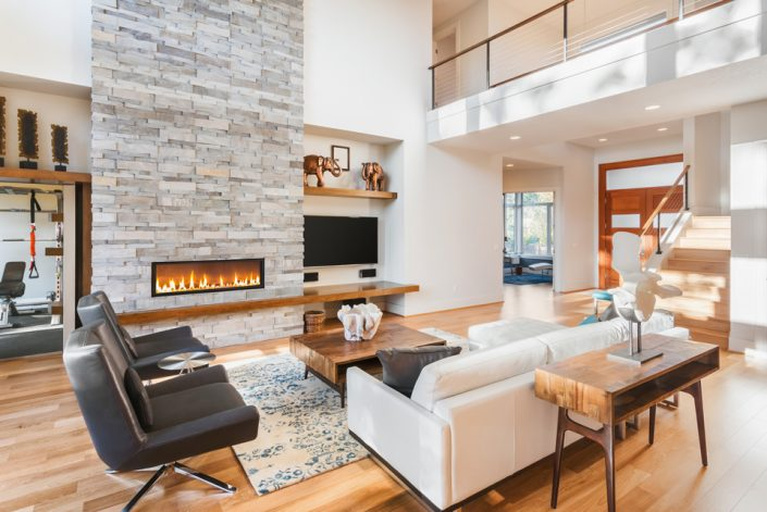 Living Room Wood Flooring in Waukesha, WI