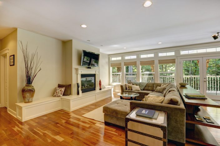 Living Room Wood Flooring in Madison, WI