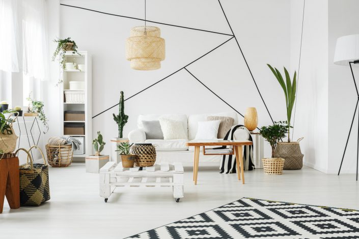Geometric Living Room Design