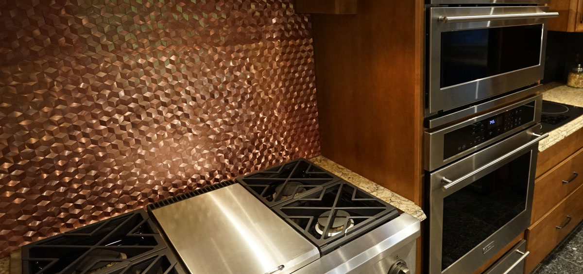 Bronze Backsplash in Madison, WI
