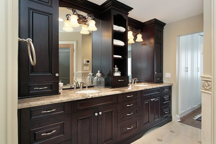 Dark Bathroom Cabinets in Waukesha & Madison, WI