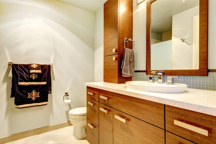 Light Bathroom Cabinets in Madison, WI