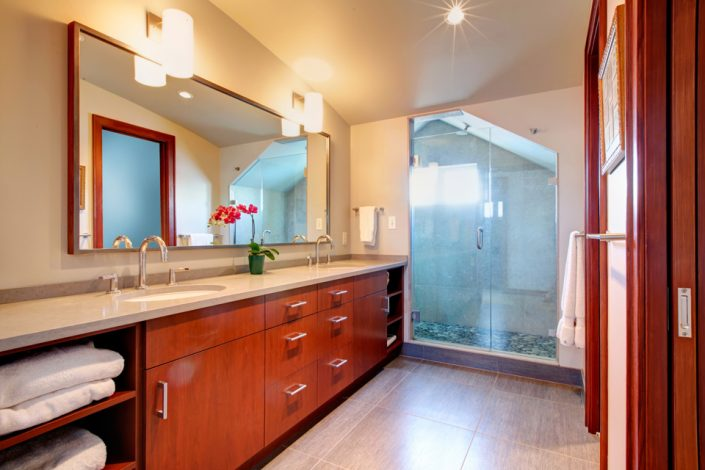 Red Bathroom Cabinets in Madison & Waukesha, WI