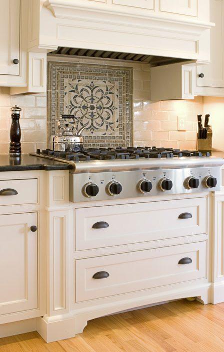 Backsplash & White Cabinets in Madison, WI