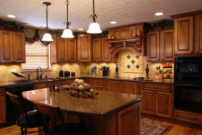 Dark Wood Cabinets in Madison & Waukesha, WI