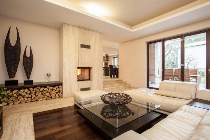 Living Room Sleek Wood Flooring