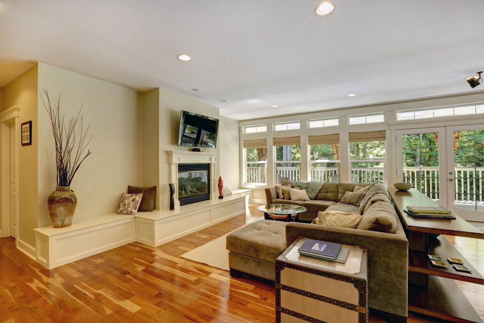 Living Room Wood Flooring in Madison, WI