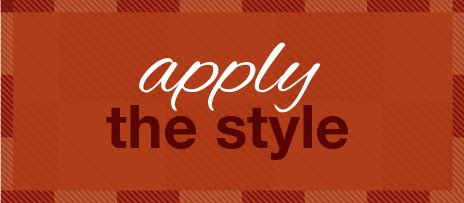 Apply the style - Fall Design