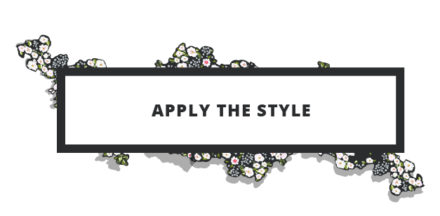 Apply the style