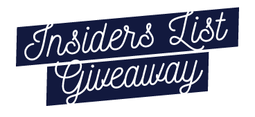 Insiders List Giveaway - Second City