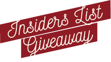 Insiders List Giveaway